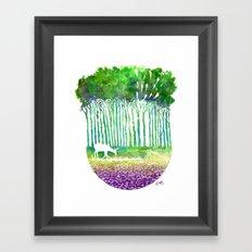 Deer Path Framed Art Print