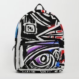 """""""Excuse me?"""" Abstract Face Painting Backpack"""