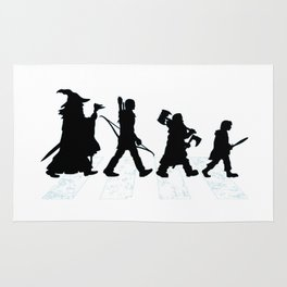 abbey road with hobbits Rug