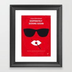 No336 My desperately seeking susan minimal movie poster Framed Art Print