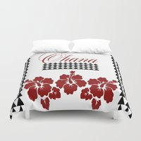 ohana Duvet Covers featuring OHANA DESIGN by Lonica Photography & Poly Designs