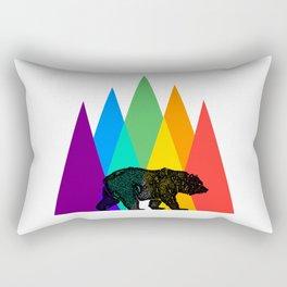 Rainbow Bear Pride LGBT GAY pride season gay bears mountains gift Rectangular Pillow