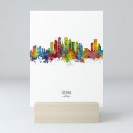 Doha Qatar Skyline Mini Art Print