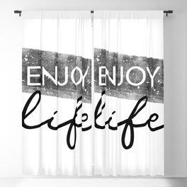 Text Art ENJOY LIFE Blackout Curtain