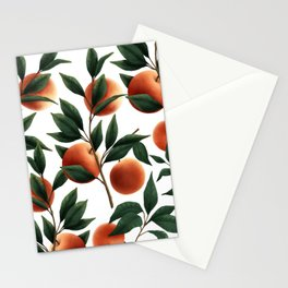 Just Peachy   White Stationery Cards