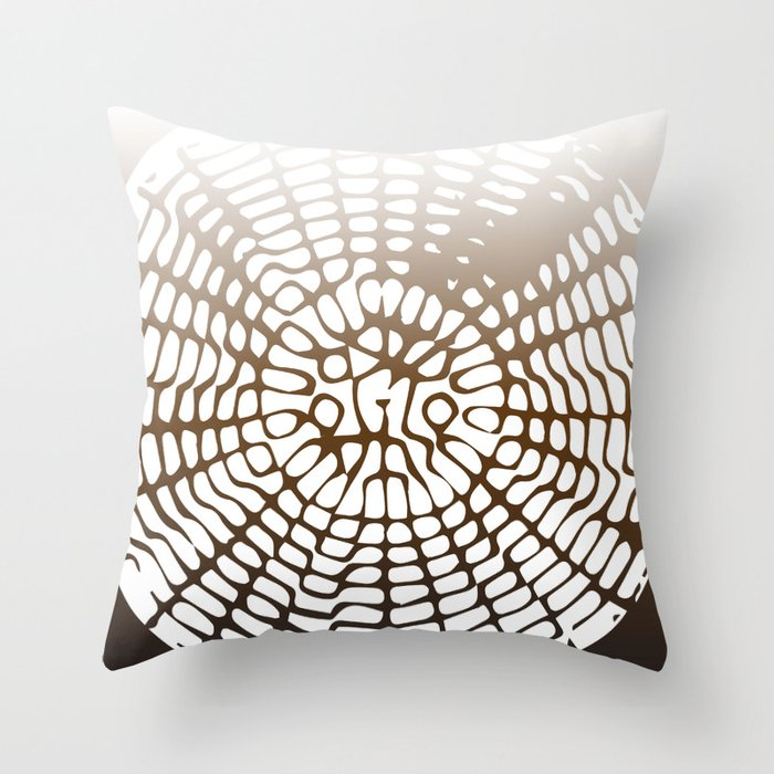 Earth Cymatics Throw Pillow