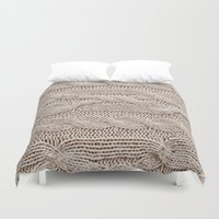 sweater Duvet Covers featuring sweater by shannonblue