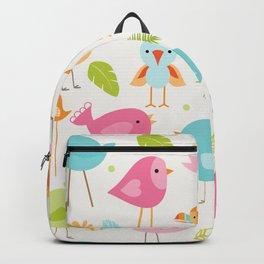 Birds - Off White Backpack