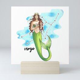 Virgo Mermaid Mini Art Print