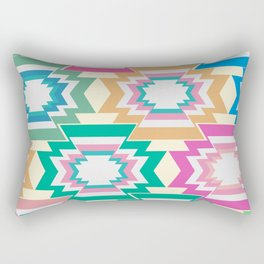 Multicolored native shapes Rectangular Pillow