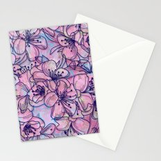 Over and Over Flowers 2 Stationery Cards
