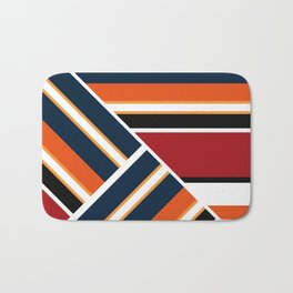 Retro . Combined stripes . Bath Mat
