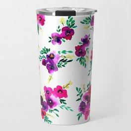Ava Floral Pink Travel Mug