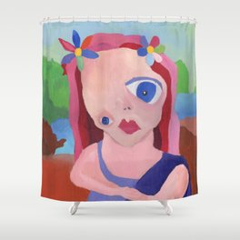 Mona Lisa Gets a Makeover Shower Curtain