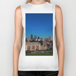 Union Station and Kansas City Skyline Biker Tank