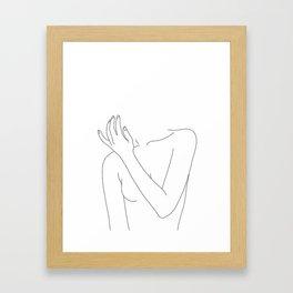 Woman's body line drawing - Fad Framed Art Print