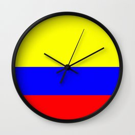 Flag of Colombia Wall Clock