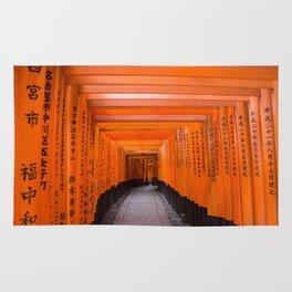Japan Travel Photo - Fushimi Inari Shrine Rug