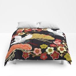 Japanese bird pattern Comforters