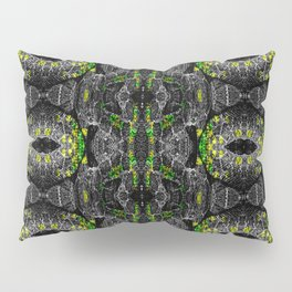 Rattlesnake in Green and Yellow Pillow Sham
