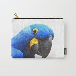 Blue Parrot Portrait Carry-All Pouch