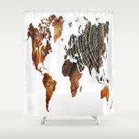 tree rings Shower Curtains featuring Tree Rings  by VRose