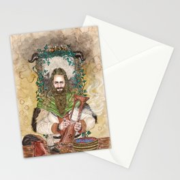 Bragi the bard of the Gods Stationery Cards