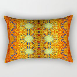 B Bloom Pattern Orange Rectangular Pillow