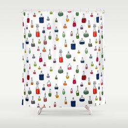 Coloured bottles pattern Shower Curtain
