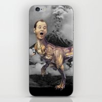 trex iPhone & iPod Skins featuring Bill Murray TRex by Kalynn Burke
