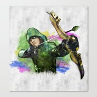 arrow Canvas Prints featuring arrow by evenstarss