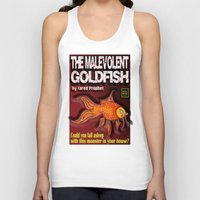 book cover Tank Tops featuring The Malevolent Goldfish - Book Cover  by perilpress