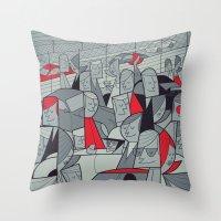 racing Throw Pillows featuring Porsche Racing by Ale Giorgini