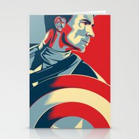 avenger Stationery Cards featuring The First Avenger by Olivia Desianti