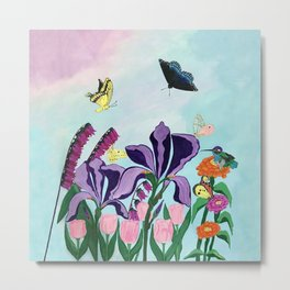 Garden of Heavenly Delight Metal Print