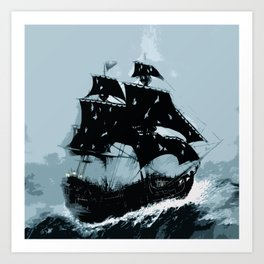Pirate in Storm Art Print