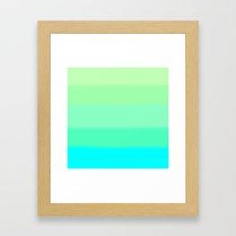 Cooling Aqua Autumn Sky Framed Art Print