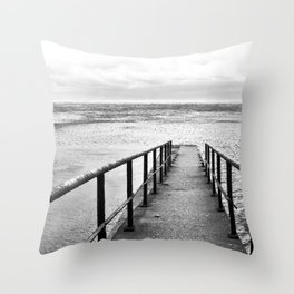 stone breakwater Throw Pillow