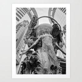 Downtown Statues Art Print