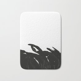 Black Raven Bath Mat