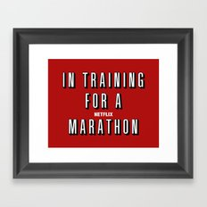 In Training Framed Art Print