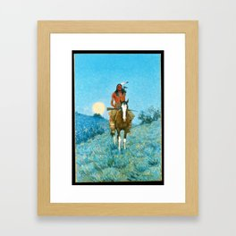 The Outlier by Frederic Sackrider Remington Framed Art Print