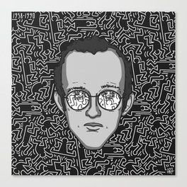 Keith Haring - Tribute Canvas Print