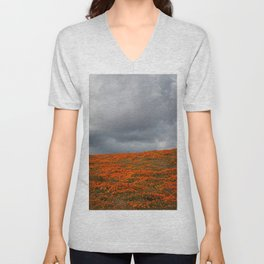 Storms and Superblooms Unisex V-Neck