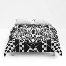 Chess Pieces Geometric Ornament Comforters