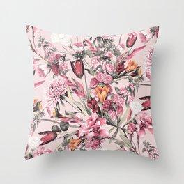 RPE FLORAL XI PINK Throw Pillow