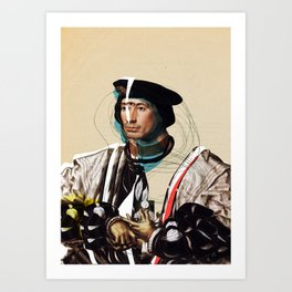 Jan Gossaert and the Buisness Man Art Print
