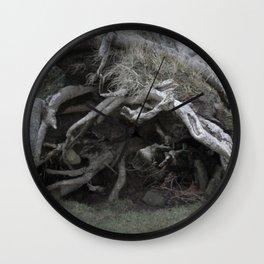 The enchanted fallen tree Wall Clock