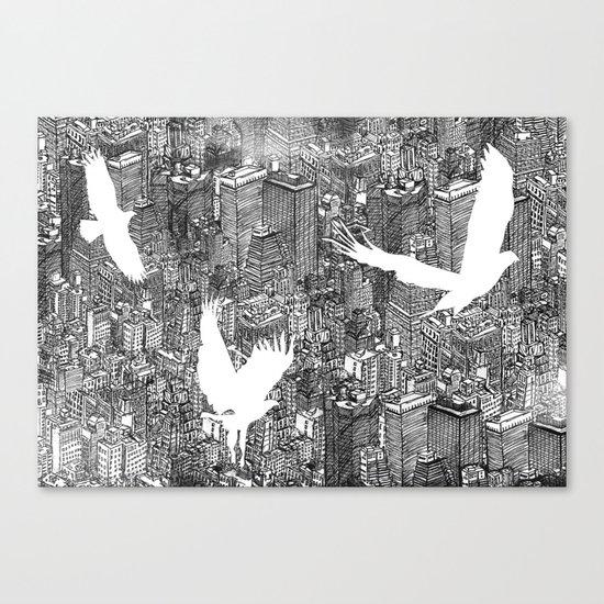 Ecotone (black & white) Canvas Print