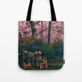 Deer in my yard Tote Bag